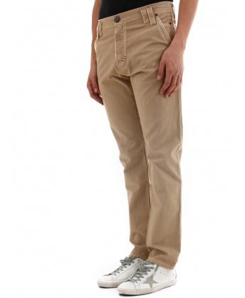 Pantaloni in cotone beige