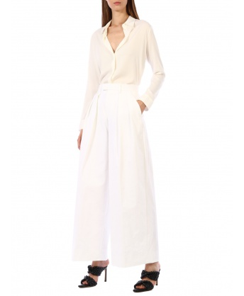 Pantaloni in nylon bianco
