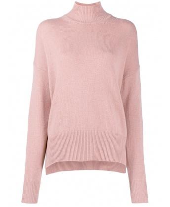 Maglia in cashmere rosa