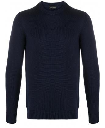 Maglia in lana blu
