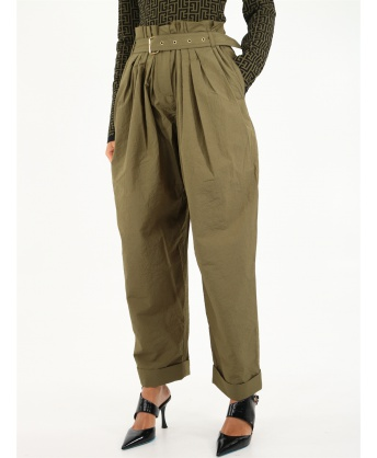 Pantalone ampio a vita alta