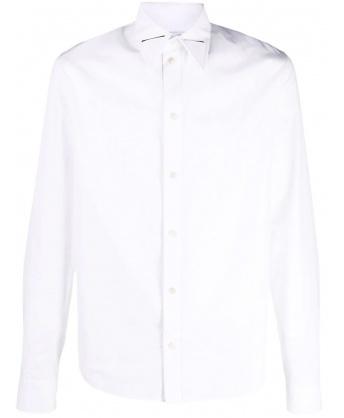 Camicia bianca dettaglio triangolo acciaio