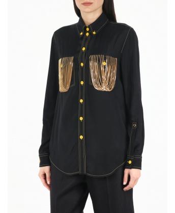 Camicia nera con catene