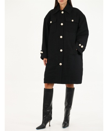 Cappotto nero ampio