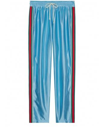 Pantalone da jogging in jersey lucido
