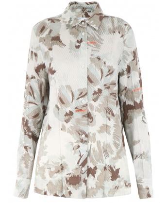 Camicia con motivo floreale