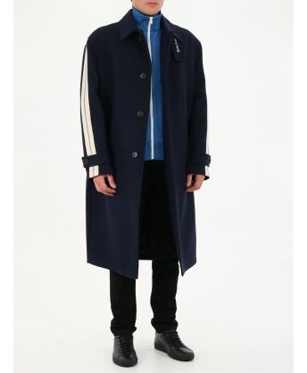 Cappotto blu in lana