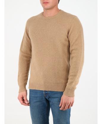 Maglione in lana beige