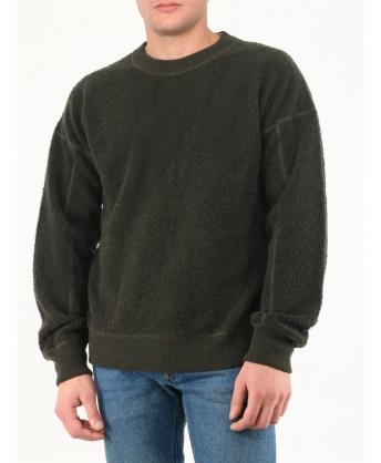 Maglione reversibile verde miliatre
