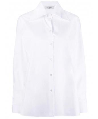 Camicia bianca con doppio colletto