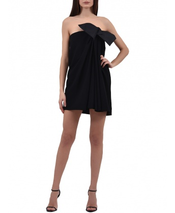 Vestito Mini Nero con Fiocco