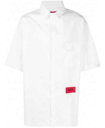 Camicia Logo Bianco