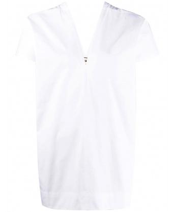 Blusa con Scollo a V Bianco