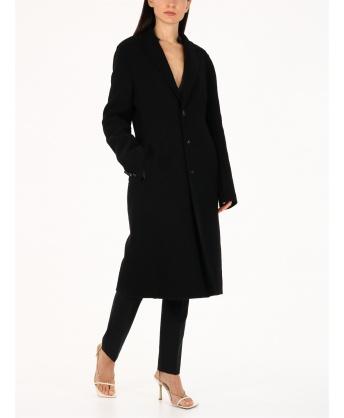 Cappotto in cashmere nero
