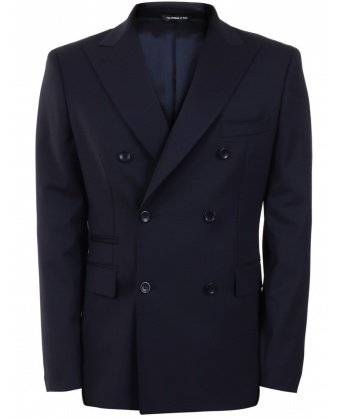Giacca in lana blu