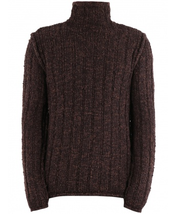 Turtleneck sweater brown