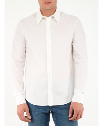 White shirt with steel triangle detail
