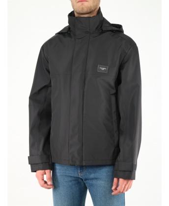 Nylon jacket with hood