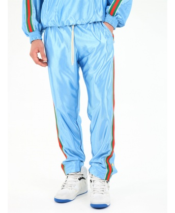Shiny jersey jogging trousers