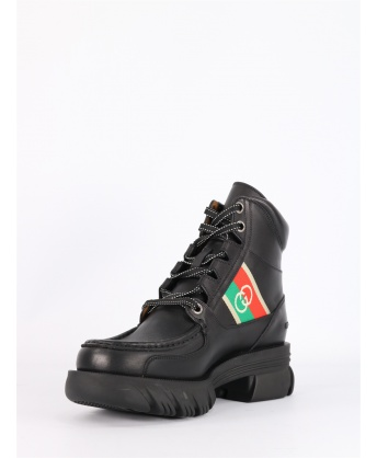 Black GG ankle boot