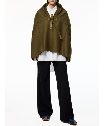 Drawstring trousers in wool