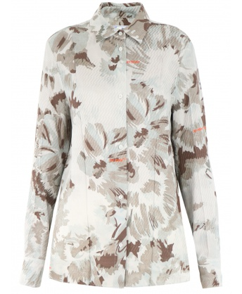 Shirt with floral pattern