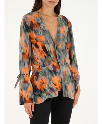 Shirt with abstract pattern