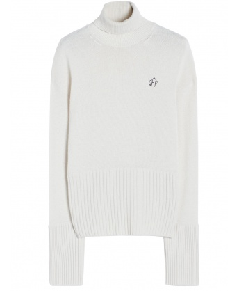 High neck sweater with logo