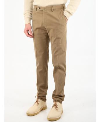 Superslim fit beige trousers
