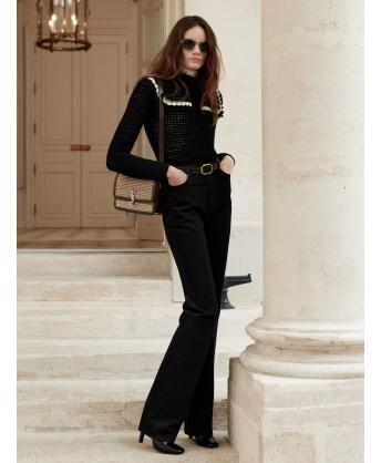 90s style jeans in black denim