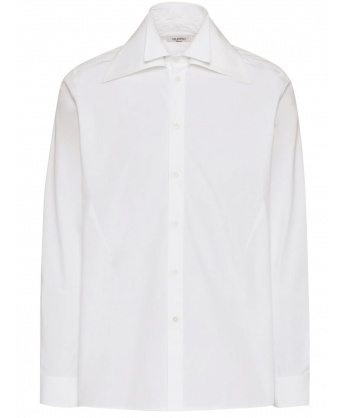 White shirt with double collar