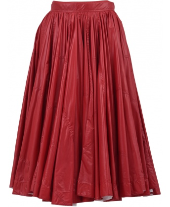 A-Line Skirt Red