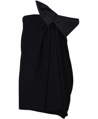 Mini Black Dress with Bow