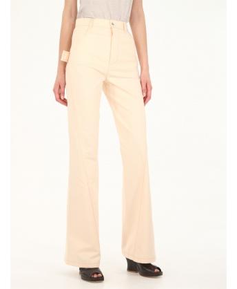 Pink denim jeans