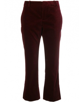 Velvet Burgundy Cropped Pants