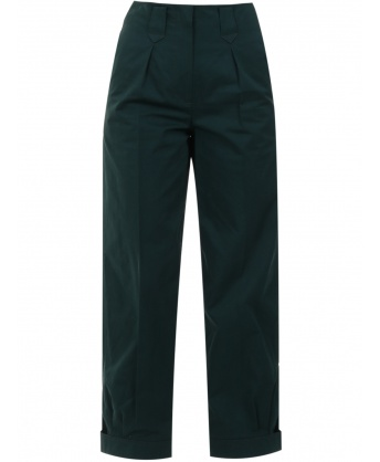 Cotton trousers green