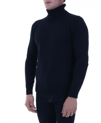 Wool pullover blue