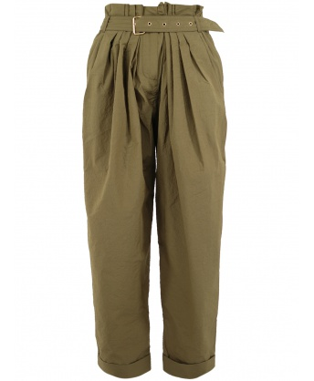 Wide high-waisted trousers
