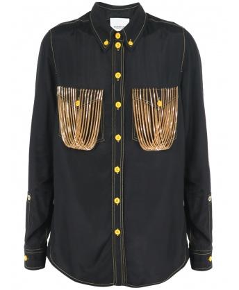 Black chain shirt