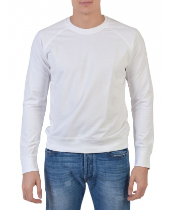 White Cotton Sweatshirt