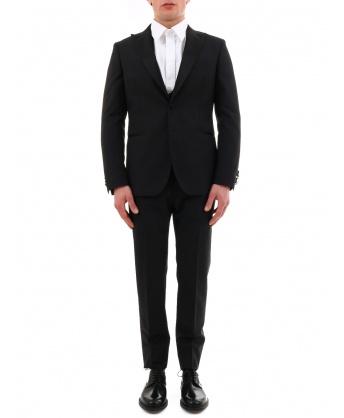 Black mohair wool suit