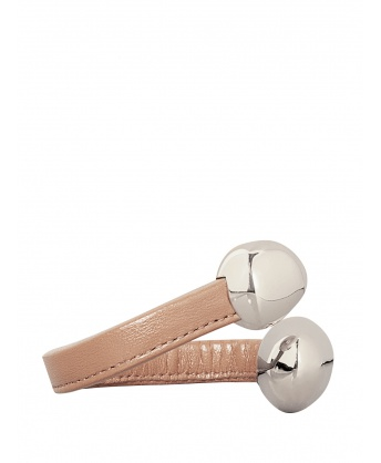 Leather Bracelet in Powder Pink