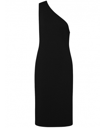 One-shoulder Dress Black