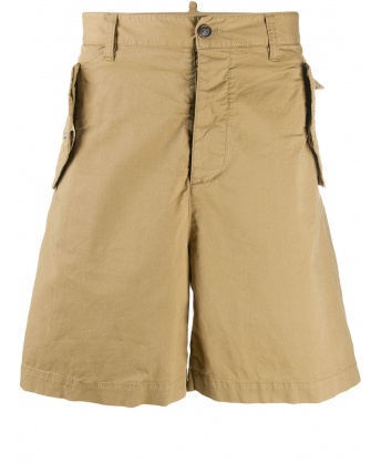 Beige Cotton Bermuda