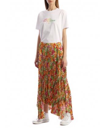 Floral Plissè Skirt