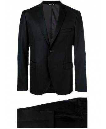 Two-piece black suit
