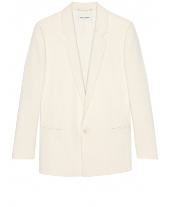 White silk jacket