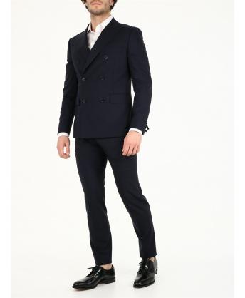 Blue wool suit