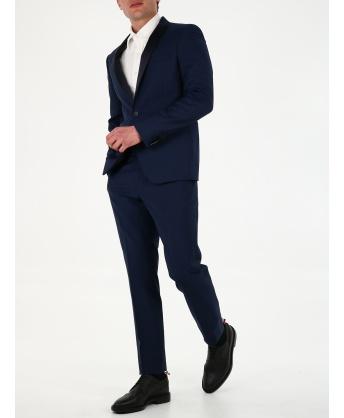 Two-piece blue wool tuxedo