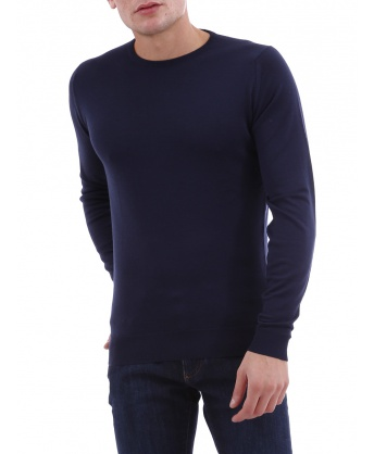 Blue Sweater in Merino Wool